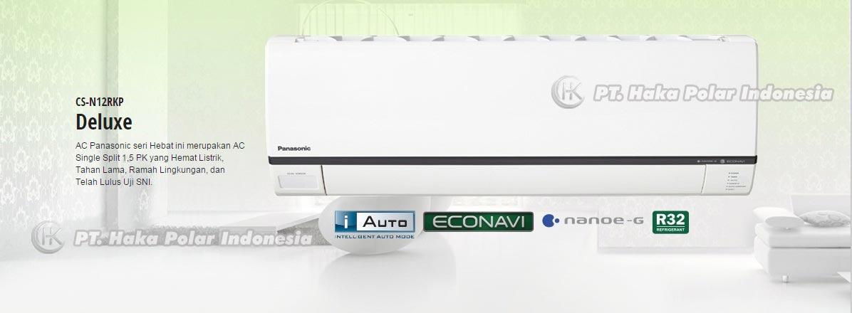 AC Panasonic CS-N12RKP 1 1/2 PK Split Wall Mounted Deluxe R32