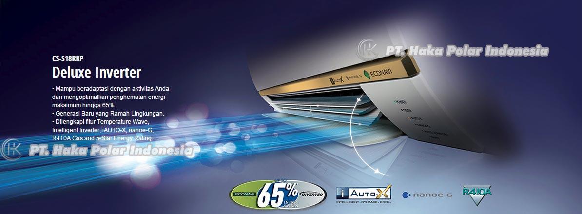 Jual AC Panasonic CS S18RKP 2 PK Split Inverter Deluxe