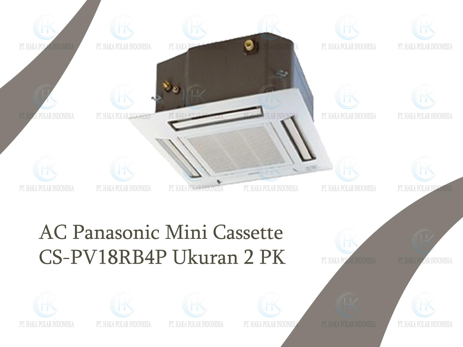 Jual AC Panasonic CS-PV18RB4P 2 PK Mini Cassette R410a