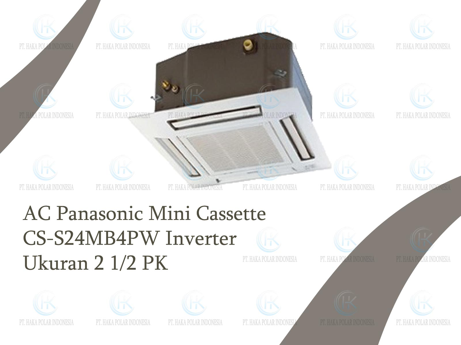 Jual AC Panasonic CS-S24MB4PW 2 1/2 PK Mini Cassette Inverter R410a