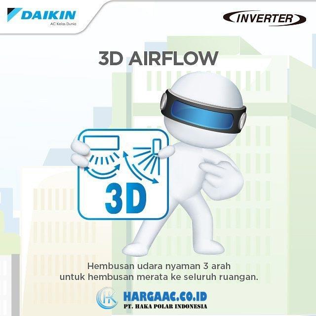 Kelebihan AC Daikin Inverter Fitur 3D Airflow