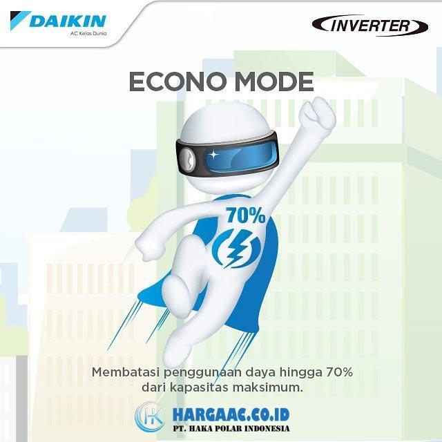 Kelebihan AC Daikin Inverter Fitur Econo Mode