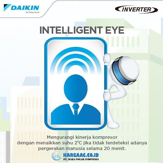 Kelebihan AC Daikin Inverter Fitur Intelligent Eye