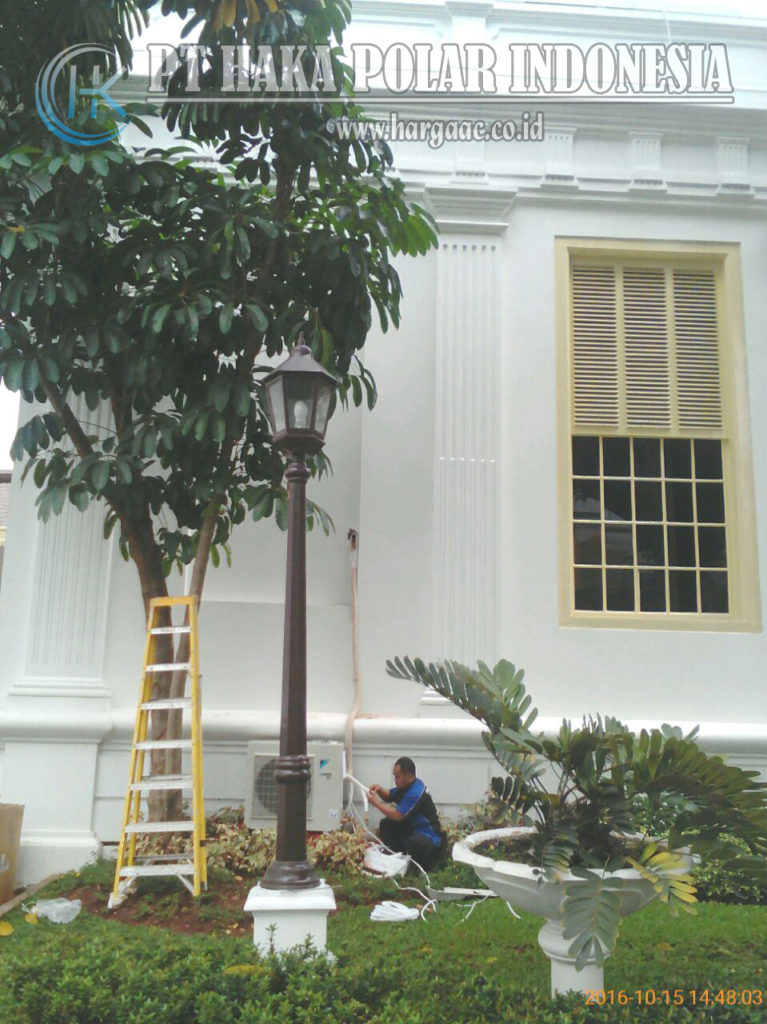 Pemasangan AC Daikin Split Inverter 2 PK di Istana Negara