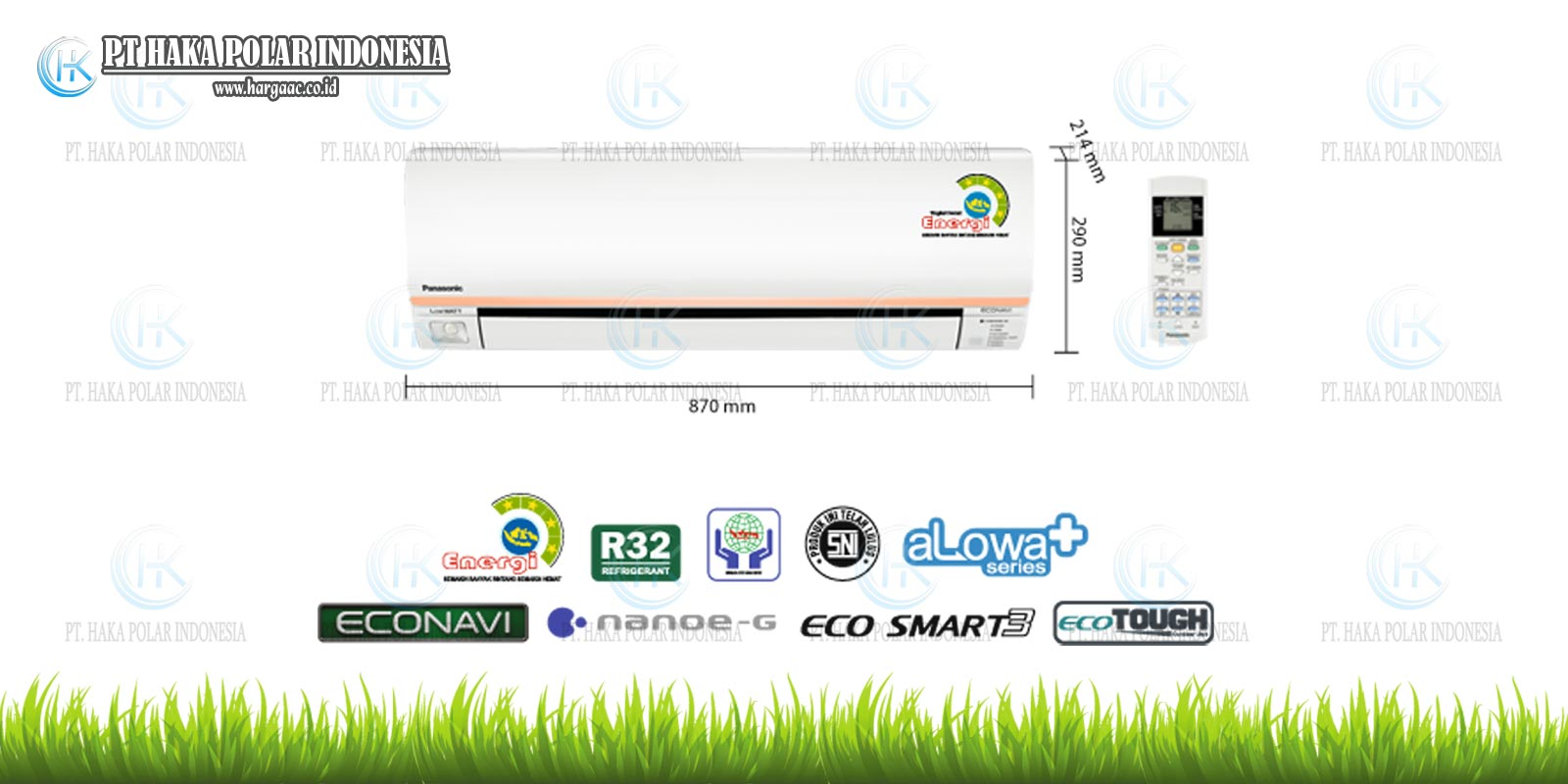 harga jual ac panasonic split low watt cs-xn5skj