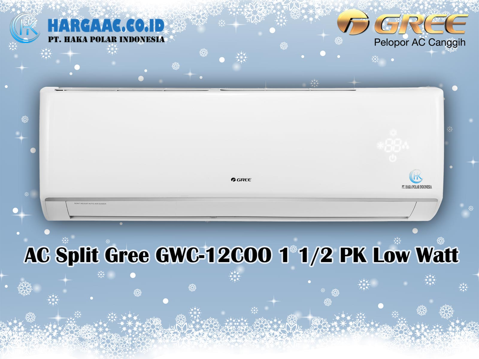 Harga Jual AC Split Gree GWC-12COO 1,5 PK Low Watt Voltage