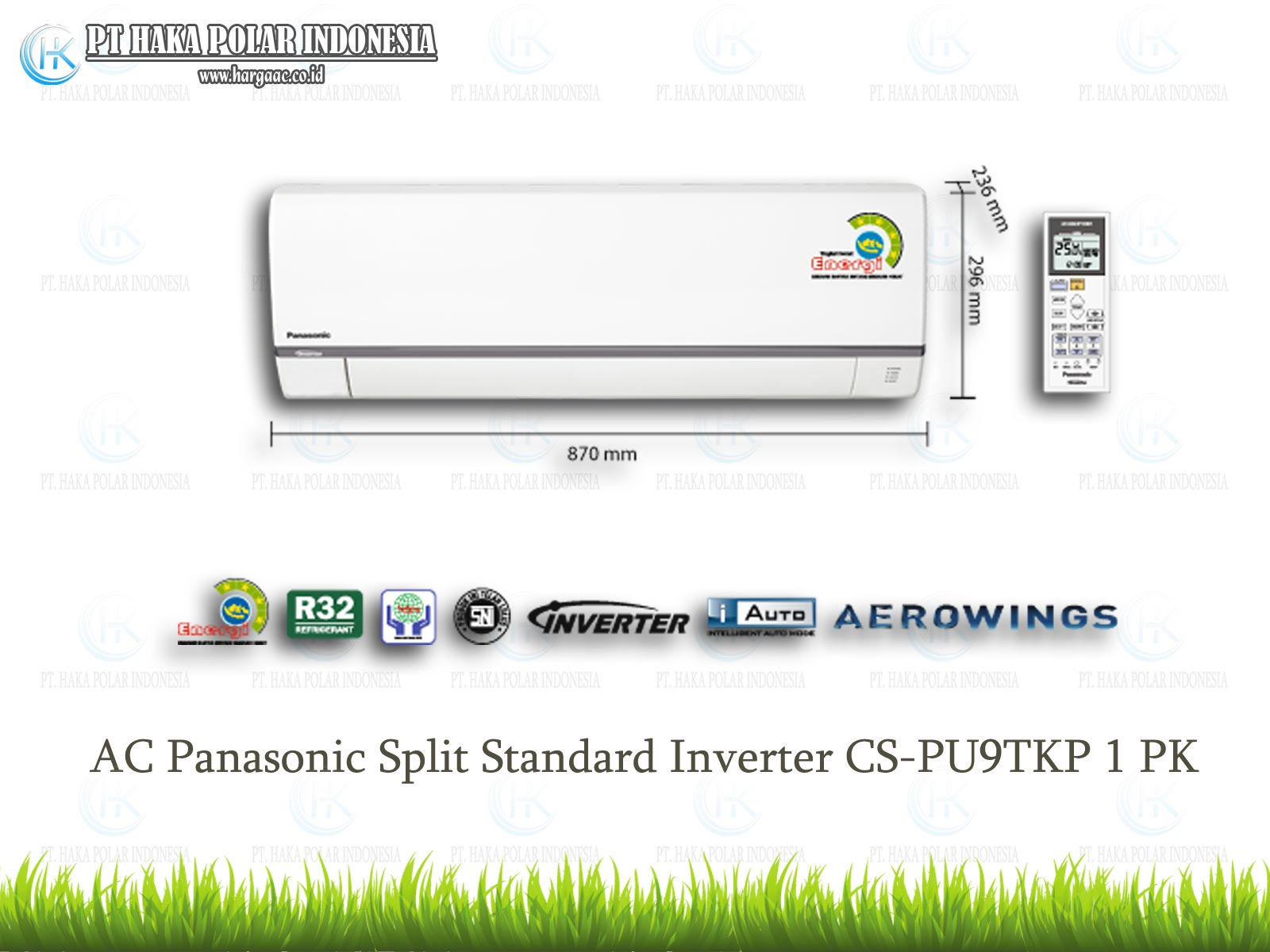 AC Panasonic CS-PU9TKP 1 PK Split Standar Inverter