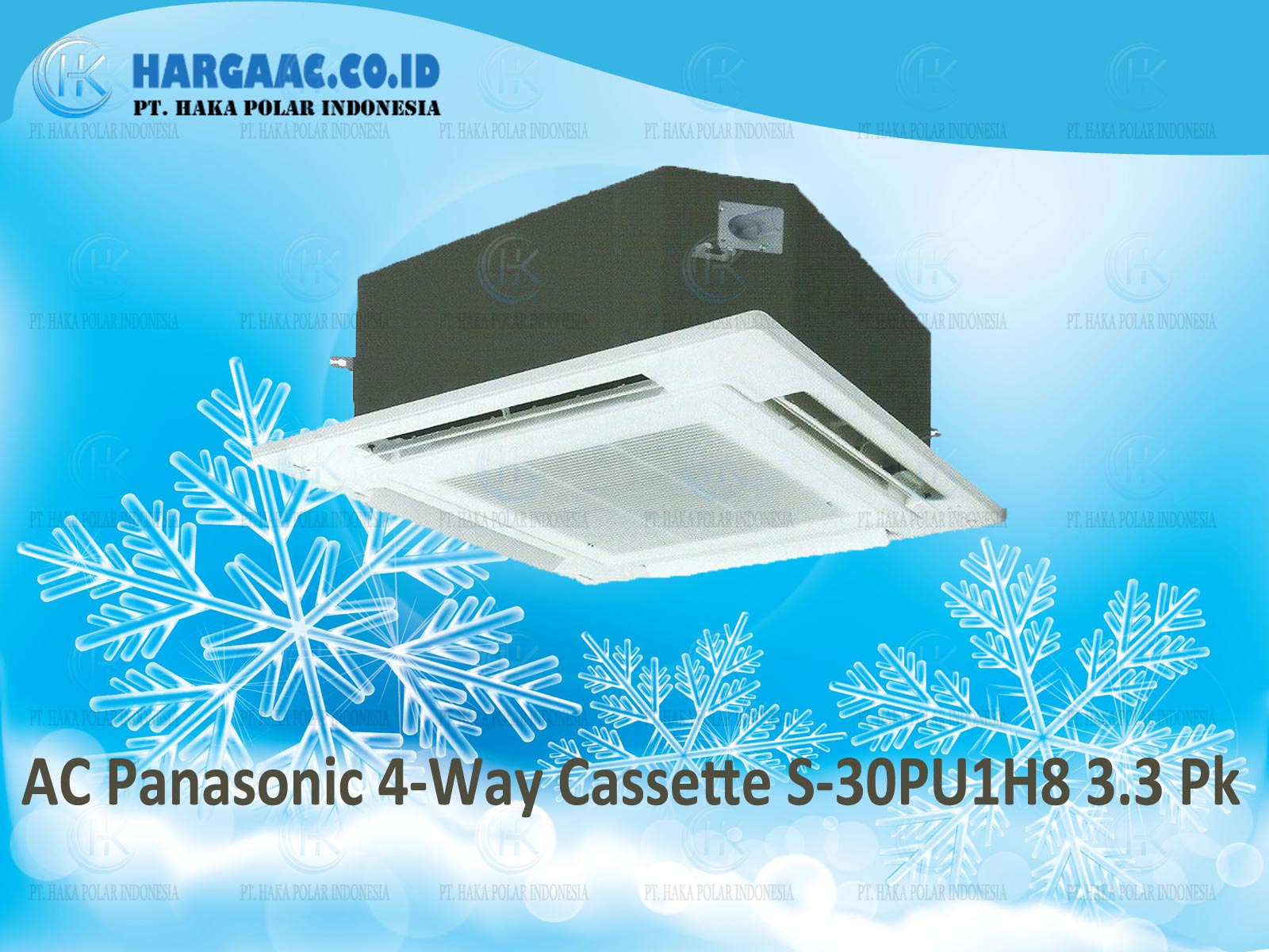 AC Panasonic 4-Way Cassette S-30PU1H8 3 Phase 3.3 PK R410a