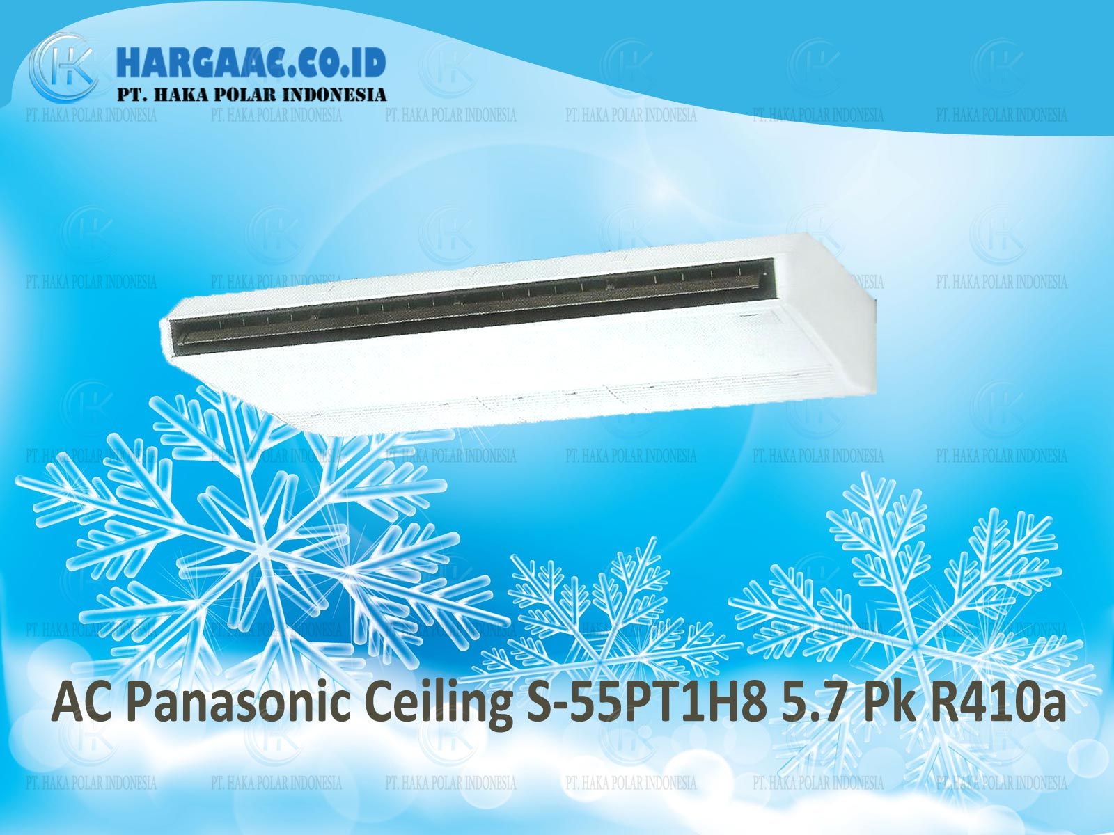 AC Panasonic Ceiling S-55PT1H8 3 Phase 5.7 PK R410a