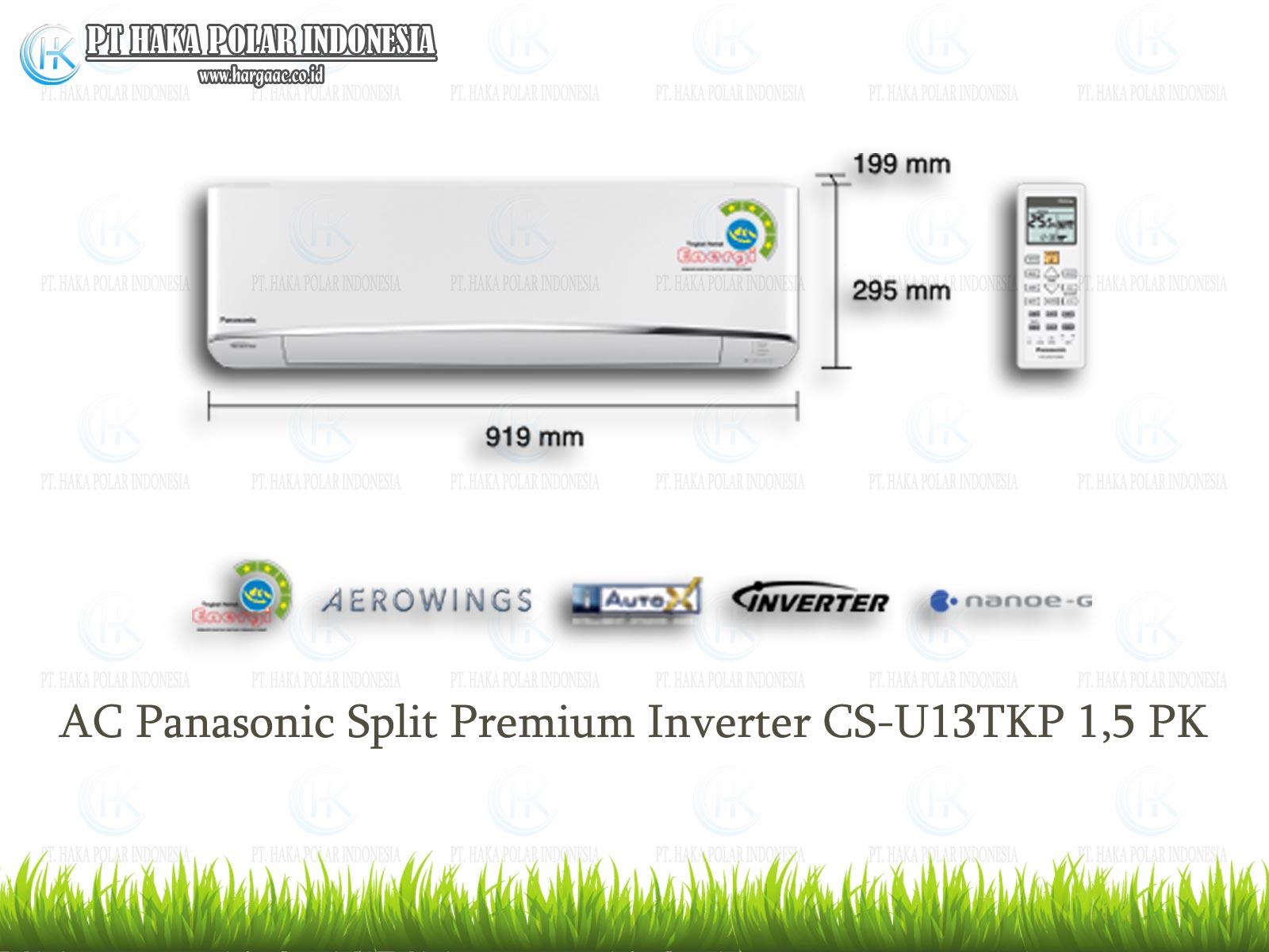 AC Panasonic Split Premium Inverter AERO Series CS U13TKP 15 PK