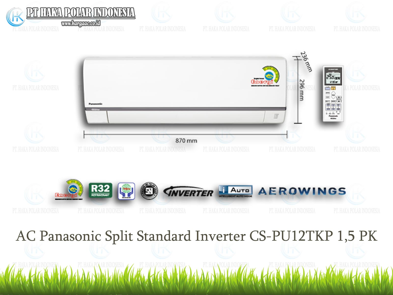 Spesifikasi AC Panasonic CS PU12UKP 1 2 PK Split Standar Inverter R32